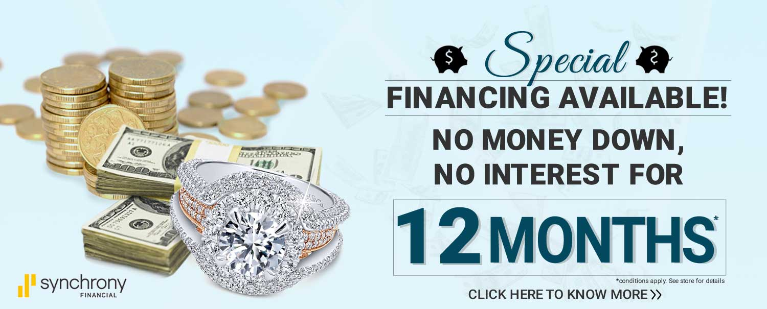 Synchrony Bank Financing Available at Hinz Jewelers Store in Sugar Land, TX